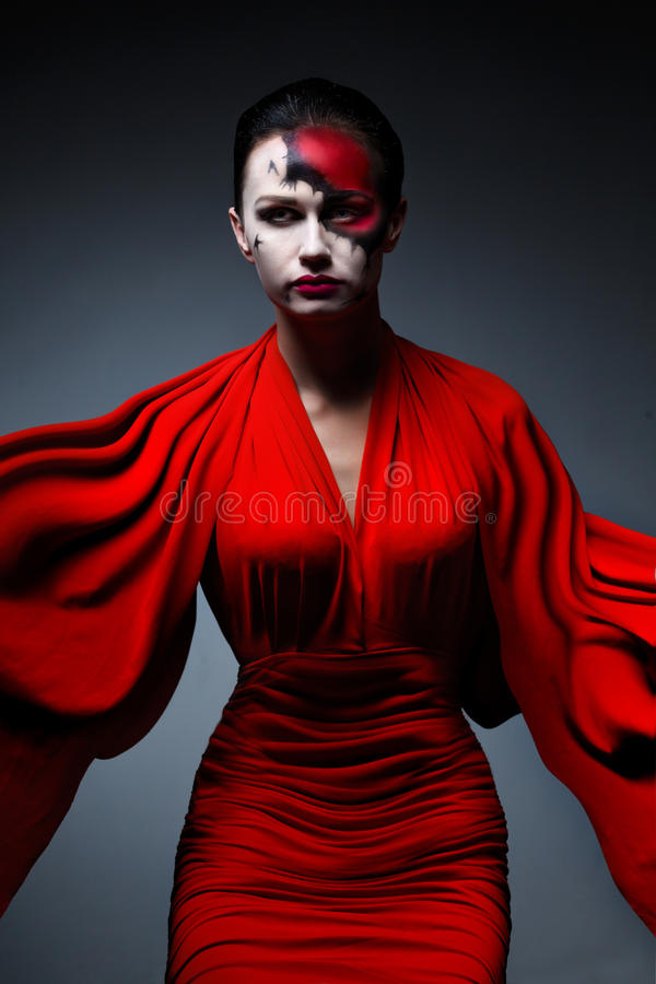 Ghost in red. Dress stock images