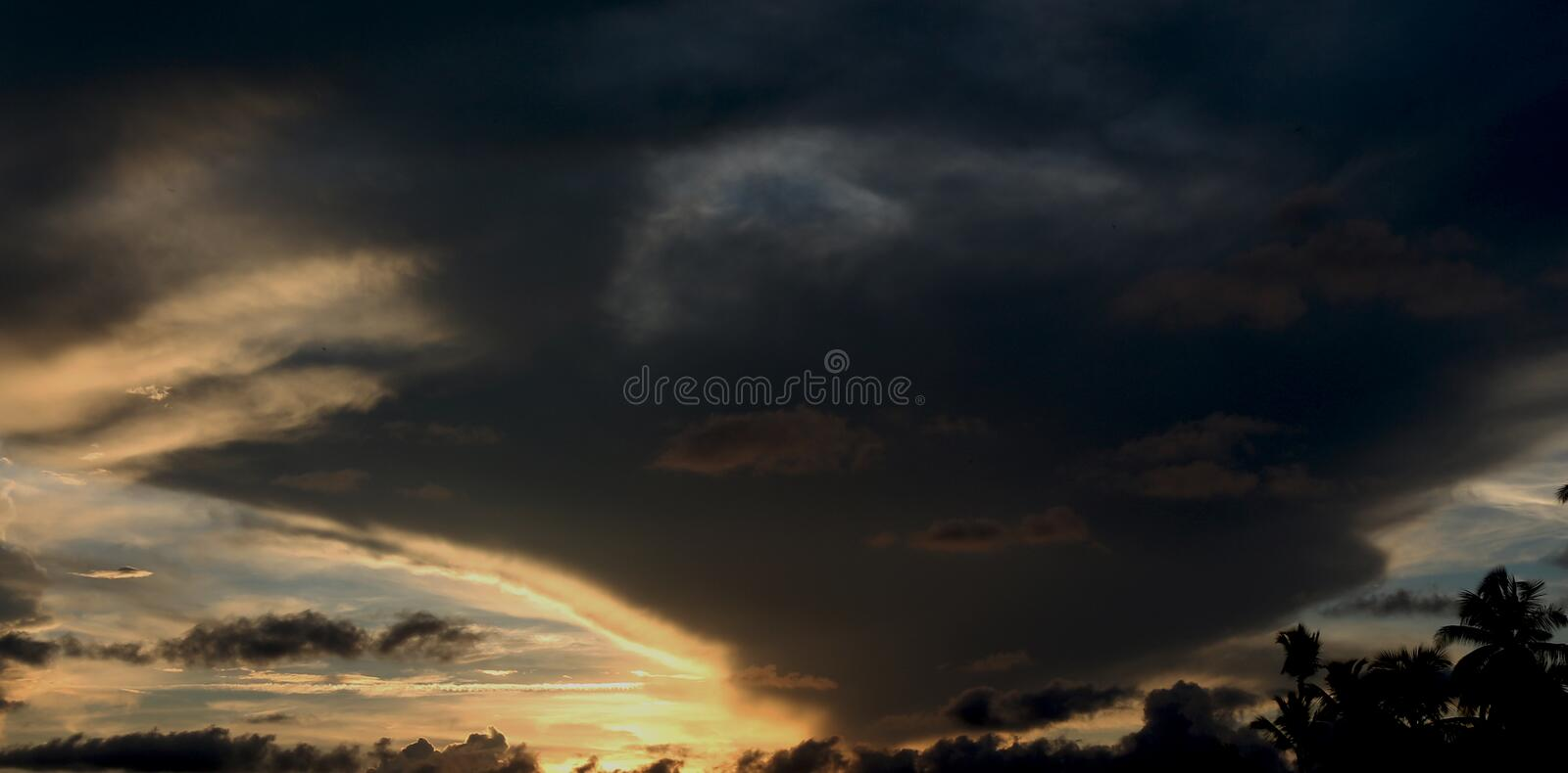 Ghost ride in the sky royalty free stock photography