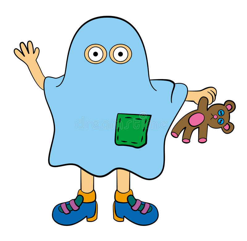 Ghost from sheet royalty free illustration
