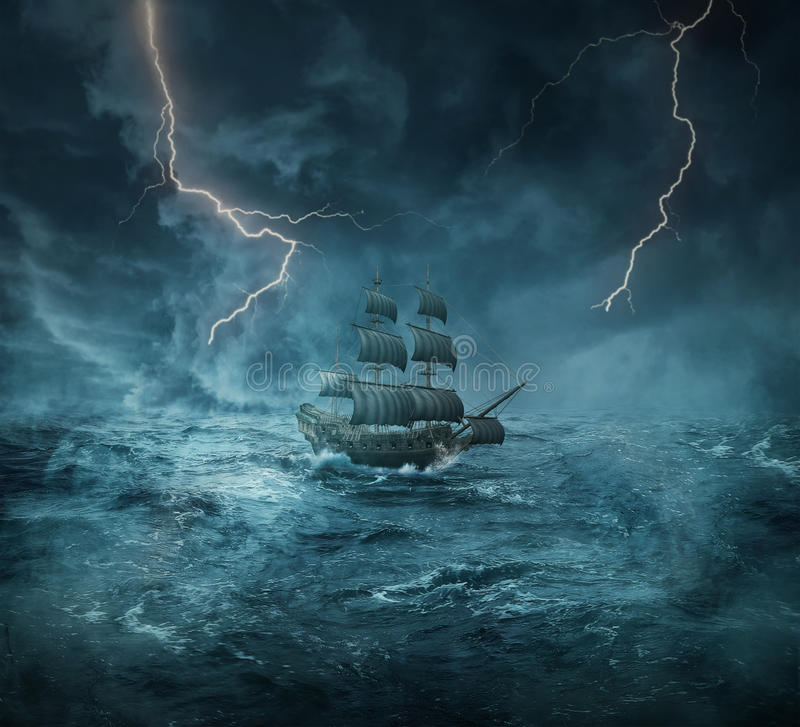Free Ghost Ship Royalty Free Stock Photo - 73374035
