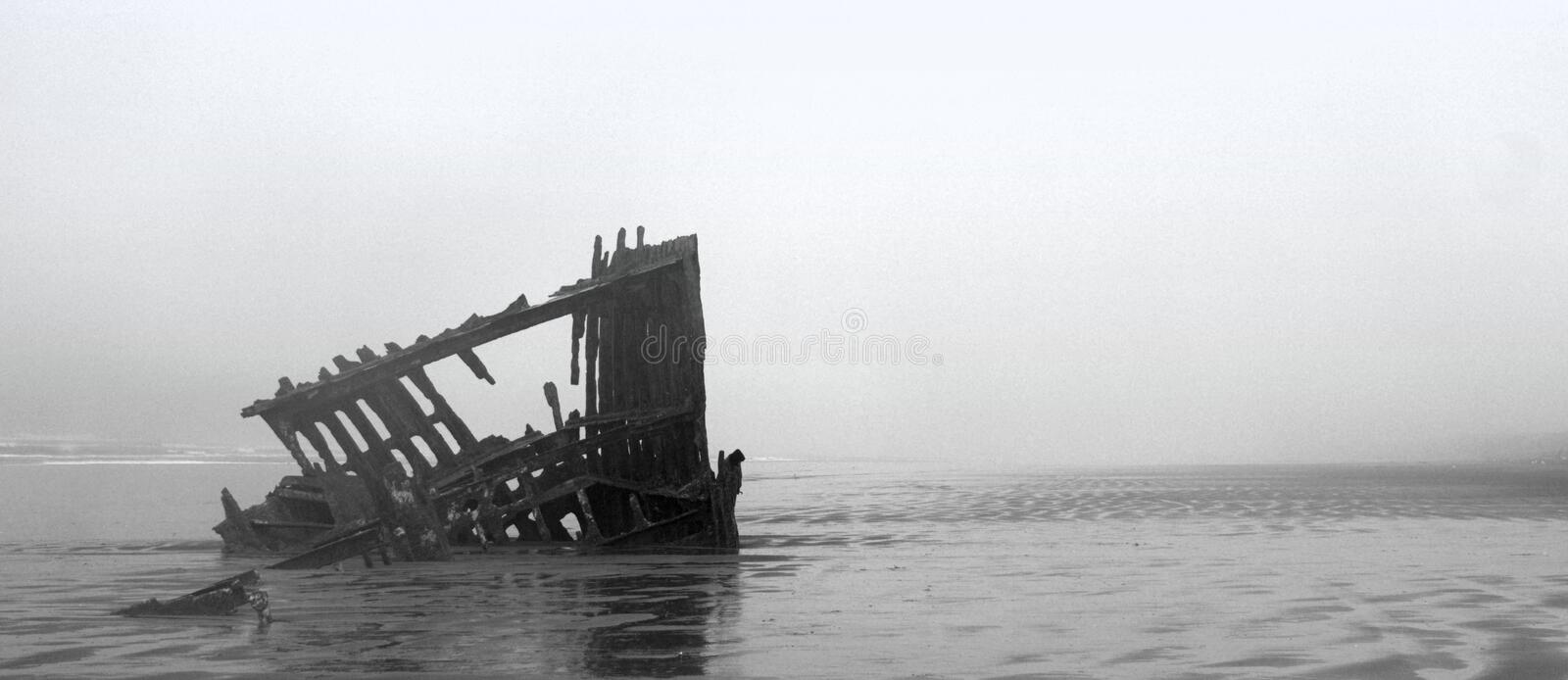 Ghost Ship in Oregon royalty free stock photos