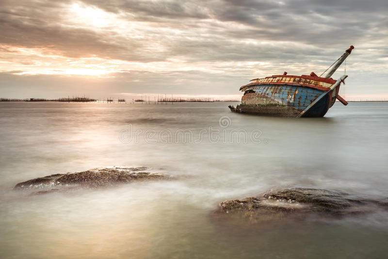 Ghost ship stock images