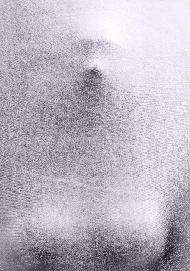 Ghost. Silver silhouette photo of a female body stock images