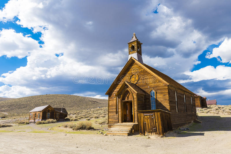 Bodie. Ghost town of Bodie is a National Historic Landmark. It is located in Mono County, Sierra Nevada - California. United States of America. The town was stock photo