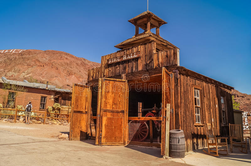 A ghost town Calico, California, USA. OCTOBER, 14. 2015, Calico, CA, USA: a ghost town Calico, California, United States, founded as a silver mining town in 19 stock image