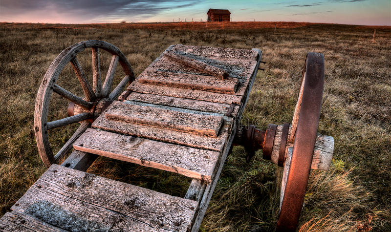 Ghost Town Galilee Saskatchewan stock photography