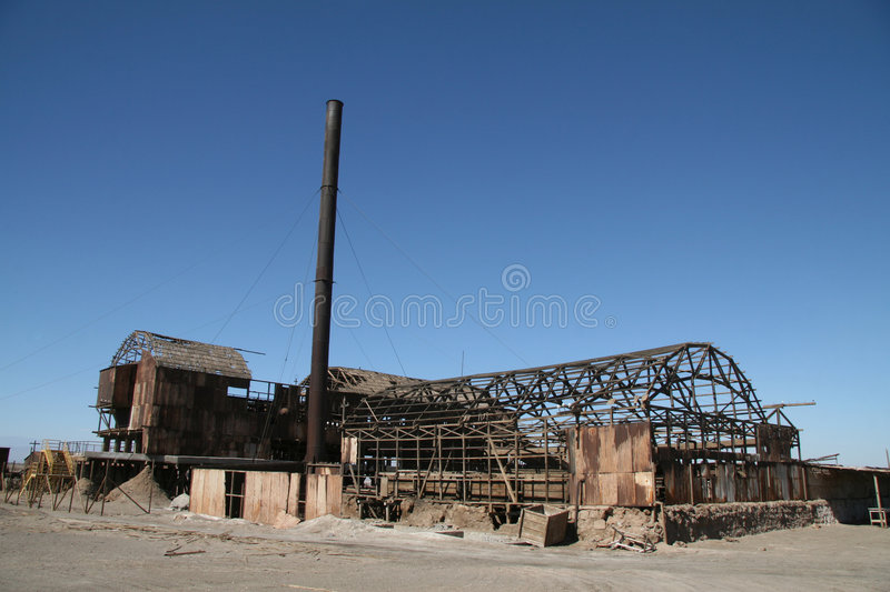 Ghost town in Norte Grande, Chile royalty free stock photos