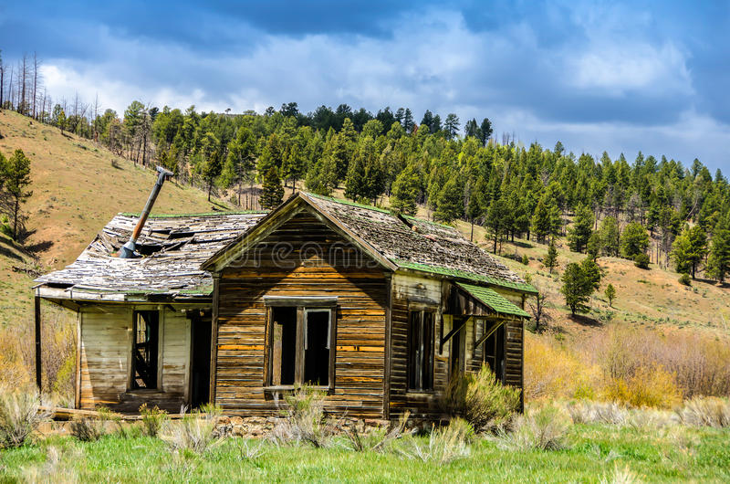 Ghost town. Old buildings in St Elmo Colorado St Elmo is one of the most preserved ghost towns in Colorado with numerous business structures and cabins stock photo