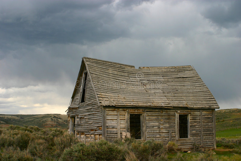 Ghost Town, Piedmont, Wyoming stock photos