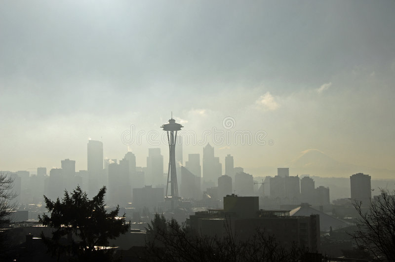 Download Ghost Town Seattle stock image. Image of needle, space - 1965359