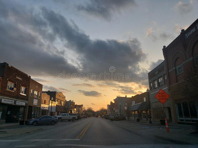 Ghost town stock photography