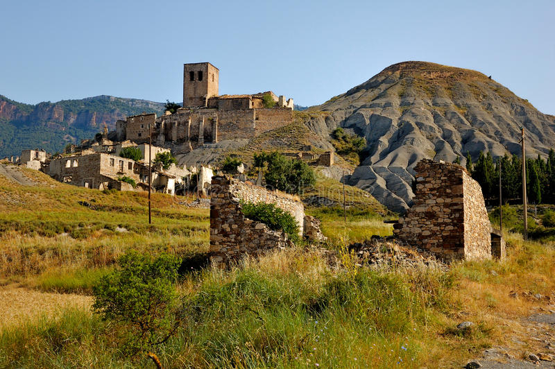 Ghost Town in Spain royalty free stock image