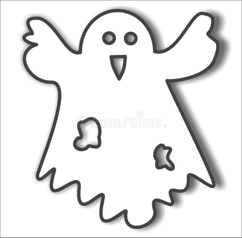 Download Ghost, vector stock vector. Image of illustration, halloween - 12148612