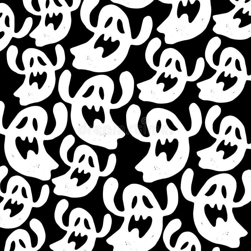 Ghost vector halloween spooky illustration cartoon fear vector illustration