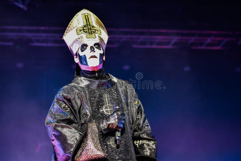 Ghost vivent dans le festival 2016 de Hellfest photographie stock