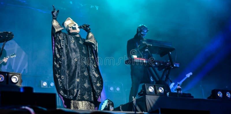 Ghost vivent dans le festival 2016 de Hellfest photo stock