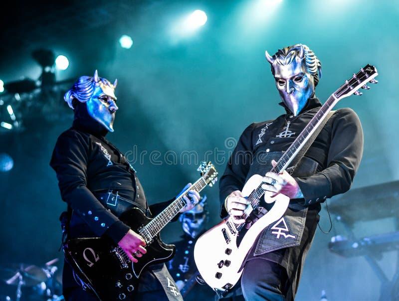 Ghost vivent dans le festival 2016 de Hellfest image stock
