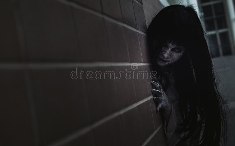 Ghost Woman Horror scene Death movie stock images