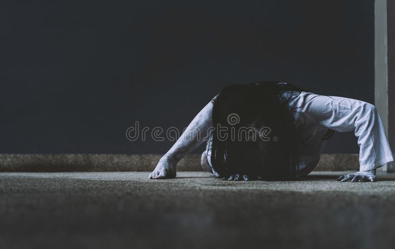 Ghost Woman Horror scene Death movie royalty free stock image