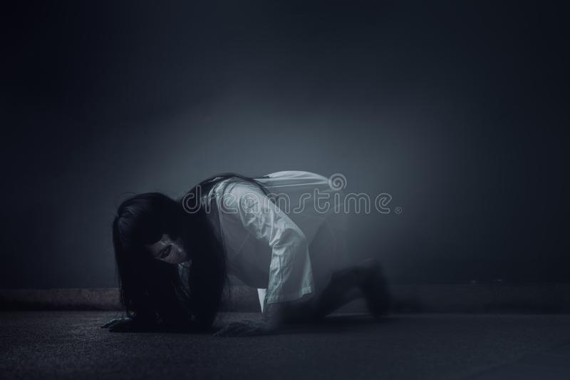 Ghost Woman Horror scene Death movie stock photography