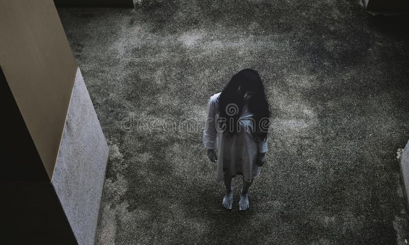 Ghost Woman Horror scene Death movie royalty free stock photography