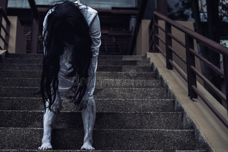Ghost Woman Horror scene Death movie royalty free stock images
