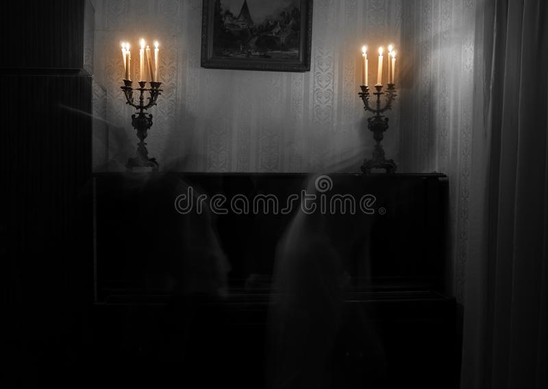 Ghost woman in room royalty free stock photography