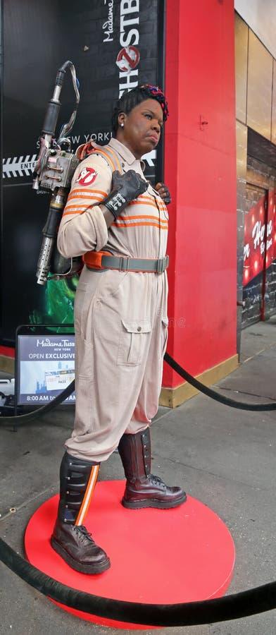 Ghostbusters-Stern Leslie Jones In Wax lizenzfreies stockbild