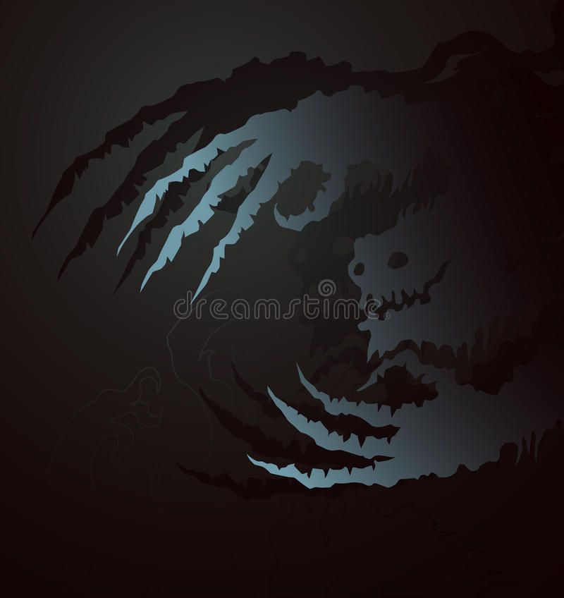 Download Ghostly Claws stock vector. Illustration of floating - 10983613