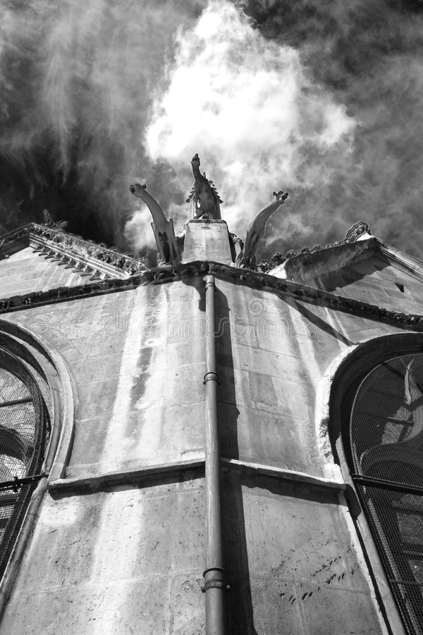 Download Ghostly Gargoyles On Churchroof Stock Photo - Image: 659728