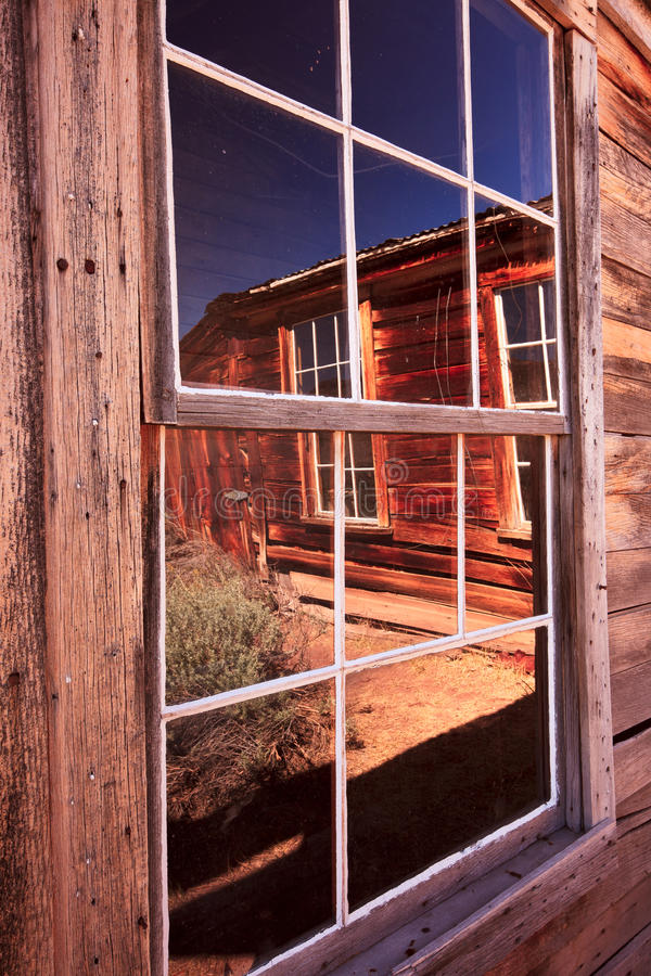 Ghostown Bodie Windows. Bodie is a historic ghostown by highway 395 in the Eastern Sierras royalty free stock photo