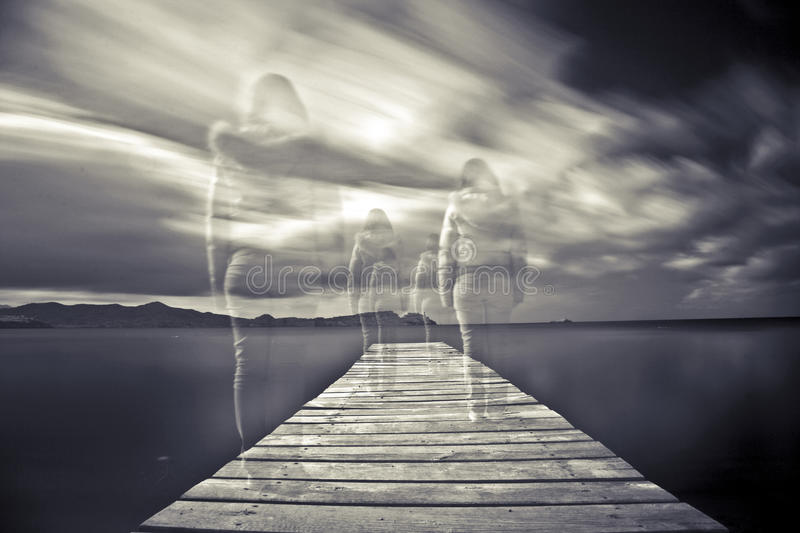 Ghosts stock photography