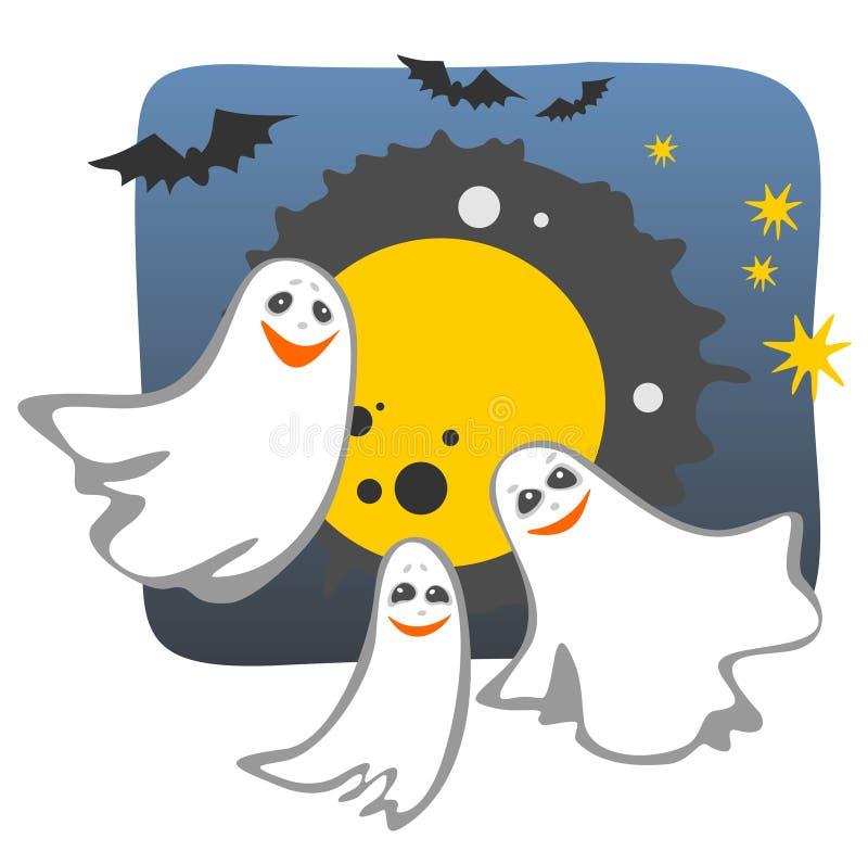 ghosts illustration stock