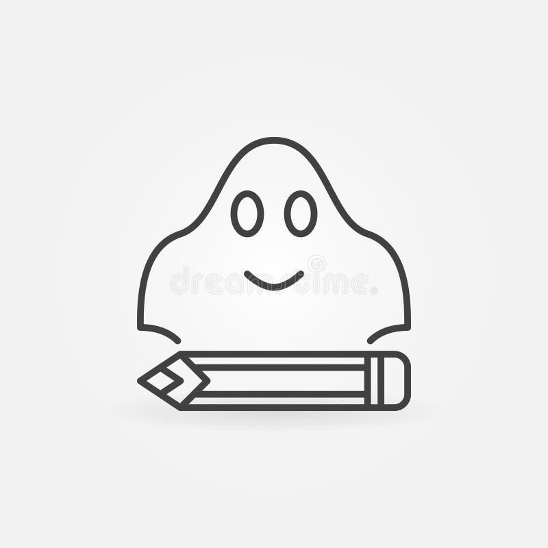 Ghostwriting значок концепции простой бесплатная иллюстрация