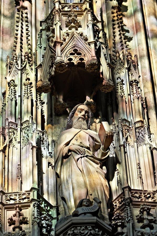 ghotic圣徒雕象 库存照片