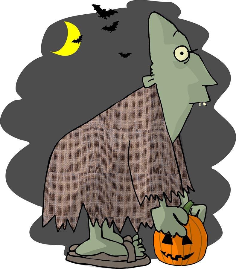 Ghoul de Halloween ilustração do vetor