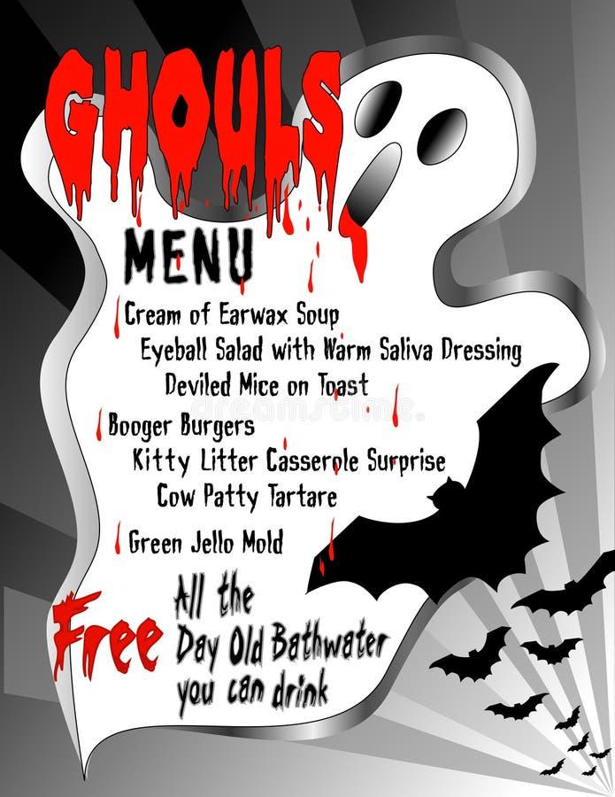 Download Ghouls Menu stock vector. Illustration of humor, dessert - 21647434