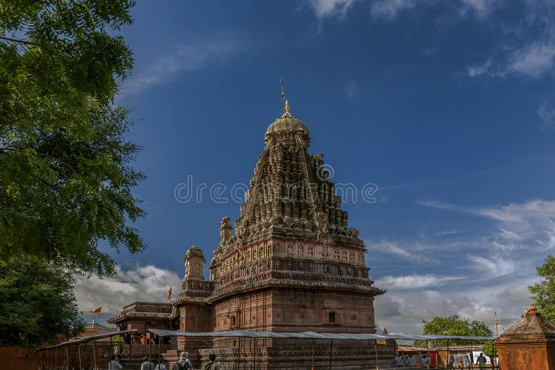 Ghrneshwar Shiva Tempel-an Verul ist ein Jyotirlinga Ellora Aurangabad Maharashtra lizenzfreie stockfotos