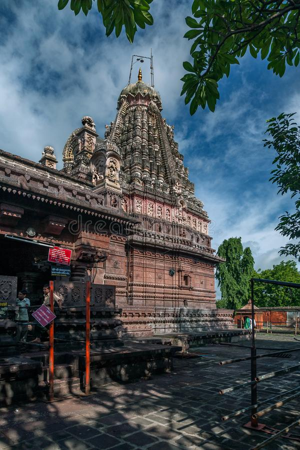 Ghrneshwar Shiva Tempel-an Verul ist ein Jyotirlinga Ellora Aurangabad Maharashtra stockfotografie