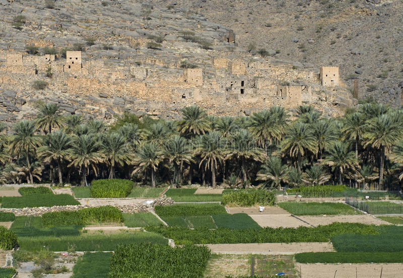 Ghul, in sultanate Oman royalty free stock photo