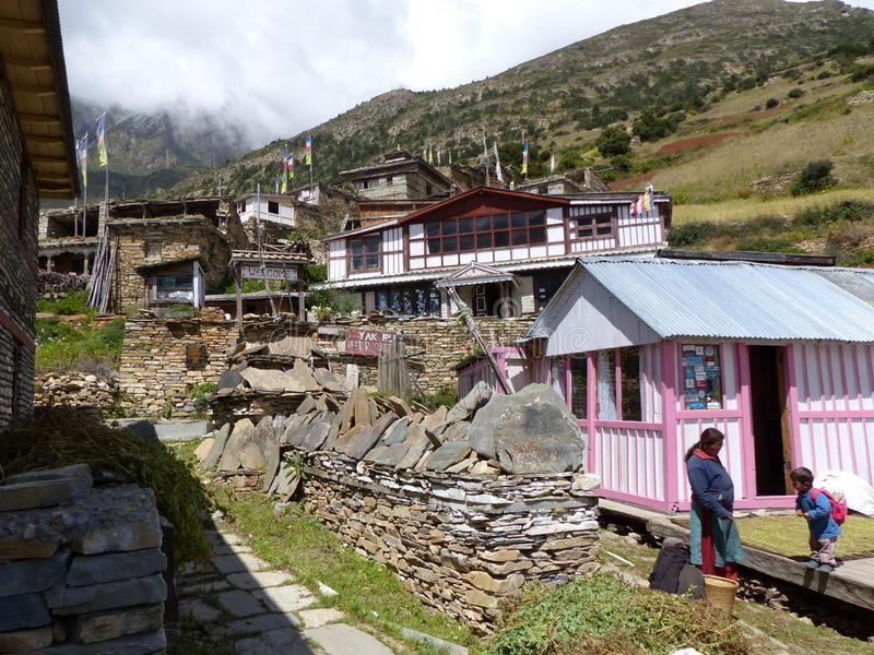 Ghyaru village royalty free stock photo