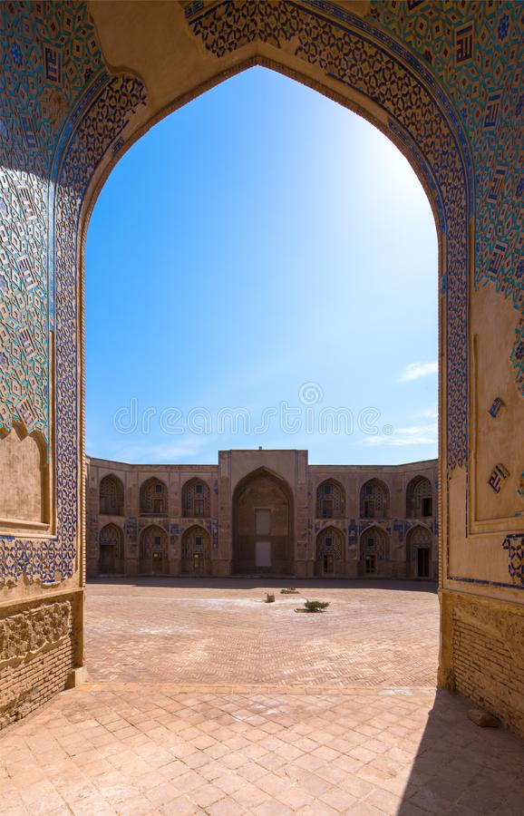 Ghyasyhschool in Khargerd, Khorasan-provincie, Iran royalty-vrije stock afbeeldingen