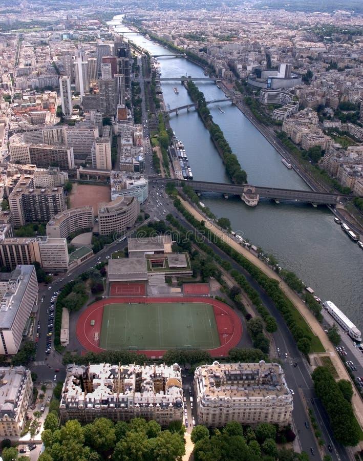 Giù il Seine fotografie stock