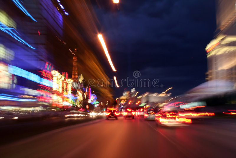 Giù striscia di Las Vegas fotografie stock
