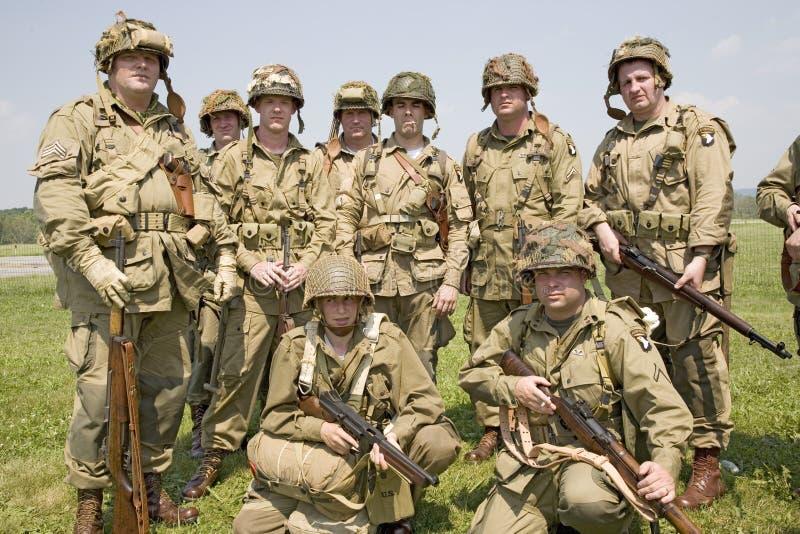 GI américain Joes de soldat d'infanterie image stock