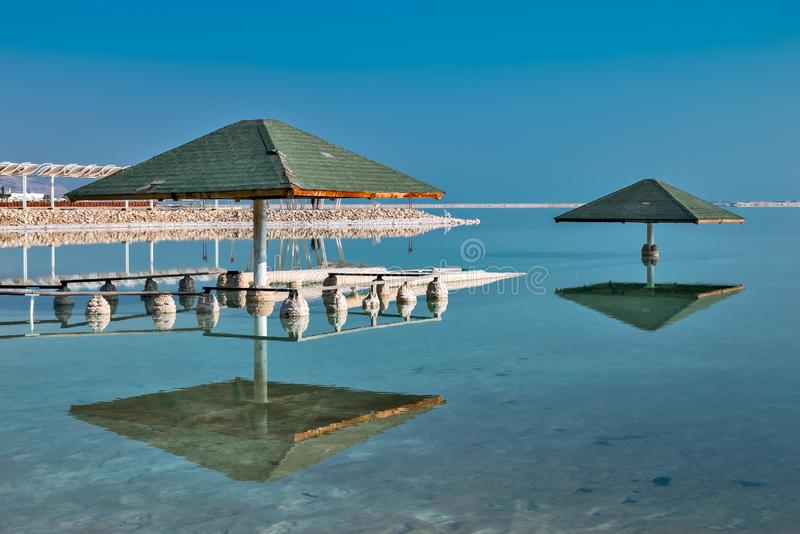 Giacimenti del sale sulle rive del mar Morto fotografie stock libere da diritti