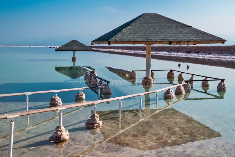 Giacimenti del sale sulle rive del mar Morto immagini stock libere da diritti