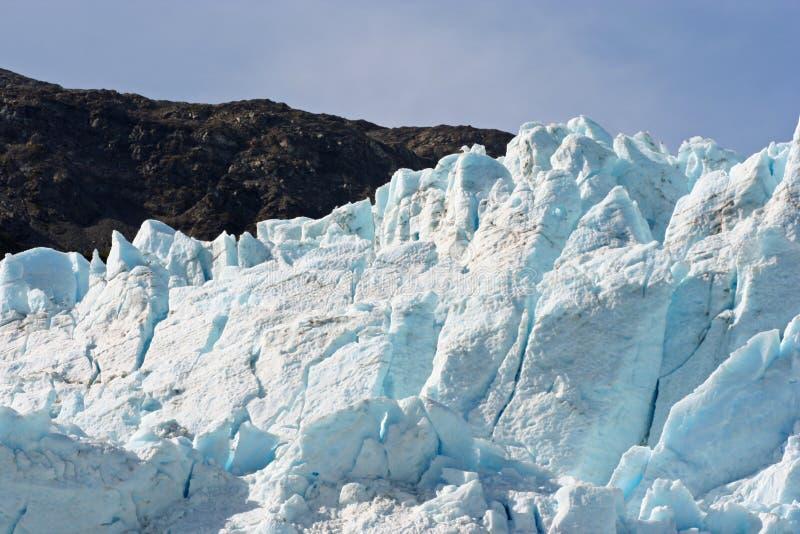 Giacimento del ghiacciaio dell'Alaska fotografia stock