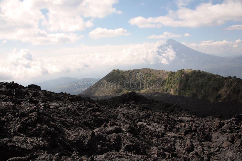 Giacimento di lava di Pacaya fotografia stock
