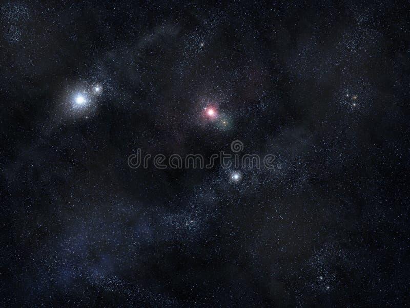Giacimento di stella dello spazio profondo fotografia stock